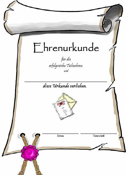 Ehrenurkunden | Urkunden Kostenlos.de urkundenvorlagen zum ausdrucken